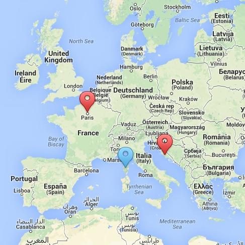 Zoeken op kaart