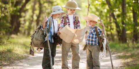 Vier speurtochten op en om de camping