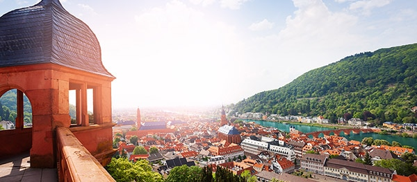 Schloss Heidelberg in Heidelberg Duitsland