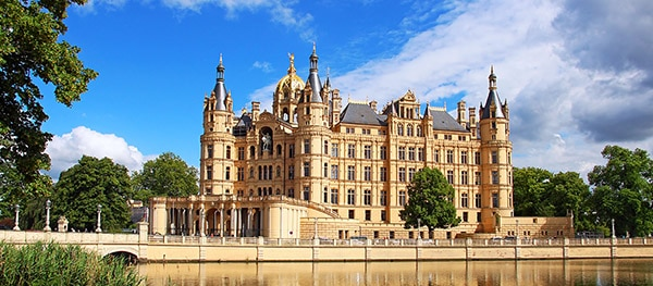 Schloss Schweriner in Schwerin Duitsland