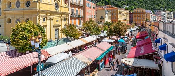 Markt in het oude centrum van Nice