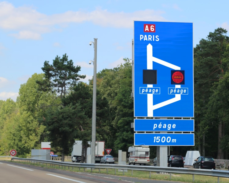 Toll-free routes France and Spain