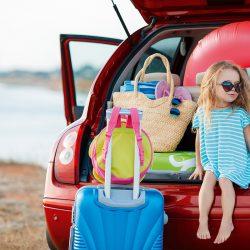 Met de auto naar de camping