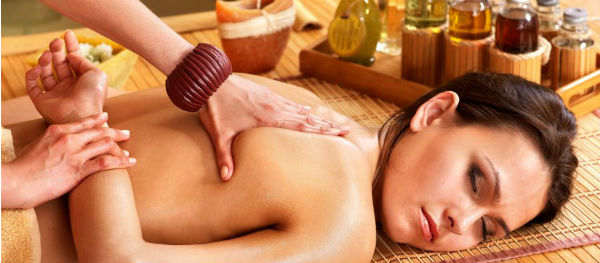 Relax during a soothing massage.