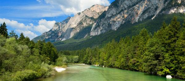 Der Gail, Österreich.