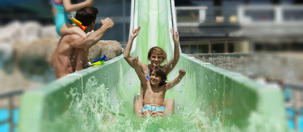 The slide at Terme 3000.