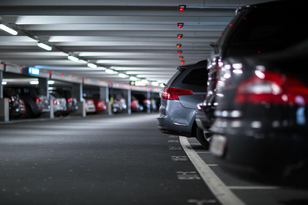 Parkeren op het vliegveld