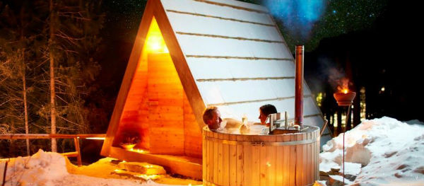 Stay overnight in your pod with your own hot tub