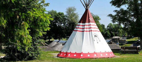 Your own tepee tent in the Indian village