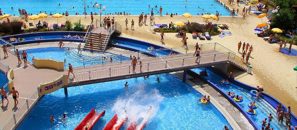 Terme Ptuj campsite has a great water park, including an Olympic-sized swimming pool