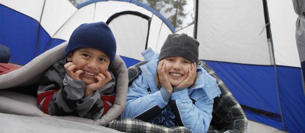 Goed ingepakt in de tent