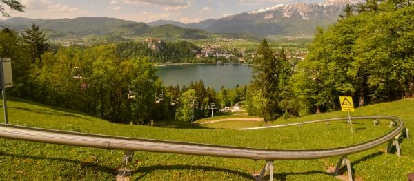 Toboggan at Lake Bled