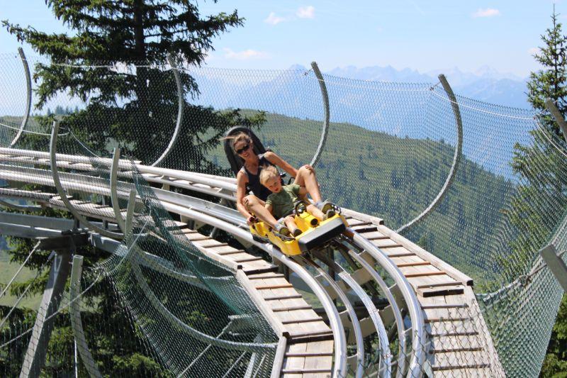 Toboggan run Alpbach Oostenrijk