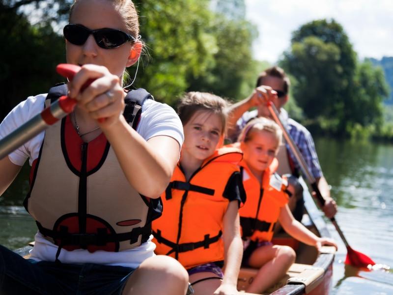 Kanoën en kajakken met kinderen is erg leuk