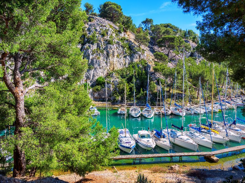 De bootjes van calanque de Port-Miou