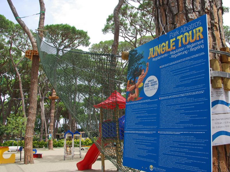 Jungle Tour op Camping Park Albatros.