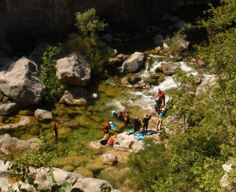 Canyoning Cetina Kroatië